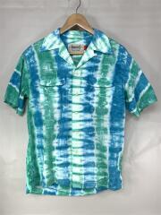 タイダイオープンカラーシャツ/RN:112846/S/コットン/BLU