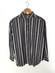 マルチストライプビッグシャツ/長袖シャツ/FREE/コットン/NVY/ストライプ