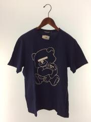 目隠しベアTシャツ/Tシャツ/M/コットン/NVY