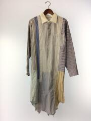 ロングシャツ/ワンピース/リメイク/パッチワーク/長袖シャツ/2/--/マルチカラー