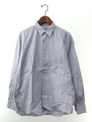BALLOON SLEEVE REGULAR COLLAR SHIRT/長袖シャツ/L/コットン/BLU