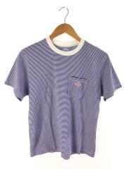 18SS/天竺コットンポケットロゴTシャツ/Tシャツ/36/コットン/WHT