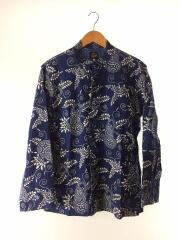 17SS/Oriental Button Unity Shirt/Ran-in-ka-fu/長袖シャツ/S/コットン