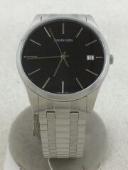 K4N21141/クォーツ腕時計/アナログ/ステンレス/BLK/SLV