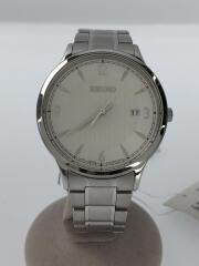 7N42-0GJ0/クォーツ腕時計/アナログ/WHT/SLV
