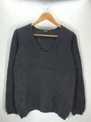 セーター(厚手)/カシミア10%/シルク10%/FREE/ウール/グレー/中古/USED