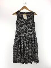 ワンピース/36/シルク/ネイビー/総柄/s. cranes camisole dress/シルク100%