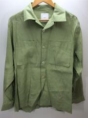 長袖シャツ/S/リネン/グリーン/緑/リネンシャツ/LUZ2001304A0003/タグ付/未使用品