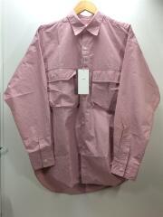 ビックナイロンシャツ/タグ付/未使用品/長袖シャツ/S/ナイロン/ピンク