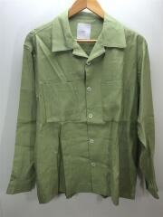 リネンシャツ/LUZ2001304A0003/タグ付/未使用品/長袖シャツ/M/リネン/グリーン