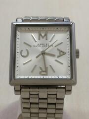 クォーツ腕時計/アナログ/ホワイト/白/シルバー