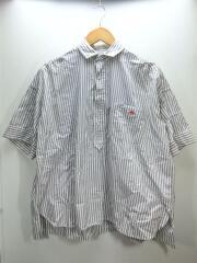 半袖シャツ/36/18S-WS-006/ストライプ/グレー