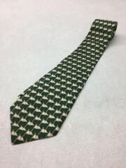ネクタイ/シルク/緑/グリーン/総柄/メンズ