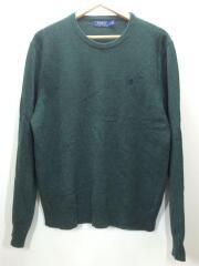 セーター(厚手)/L/ウール/グリーン/緑/7106251720120718