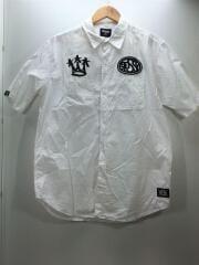 半袖シャツ/L/コットン/ホワイト/白