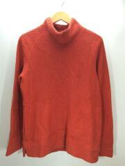 CLOUDY MOC NECK/セーター(厚手)/1/コットン/オレンジ/中古/USED