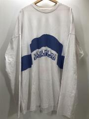 長袖Tシャツ/3/コットン/ホワイト/白※使用感有