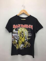 IRON MAIDEN/Tシャツ/S/コットン/ブラック