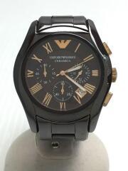 AR-1446/クォーツ腕時計/アナログ/ステンレス/BRW/BRW/ガラス傷有/使用感有