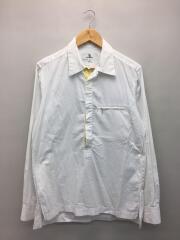 プルオーバーシャツ/3/コットン/ホワイト/襟汚れ有