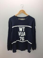 長袖Tシャツ/1/コットン/ネイビー