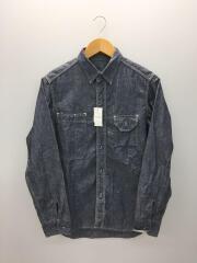 シャンブレーシャツ/36/コットン/IDG