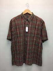 オーバーサイズ半袖シャツ/XL/コットン/RED/NMW37241S/ヨゴレ有