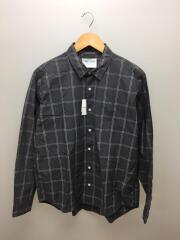 ブロードチェックシャツ/5/コットン/GRY/DF86-13V007/2018年制