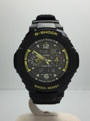 SKY COCKPIT/GRAVITYMASTERソーラー腕時計/デジアナ/ラバー/GW-3500B