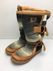ブーツ/24cm/ウール/1879-030/使用感、ヨゴレ有