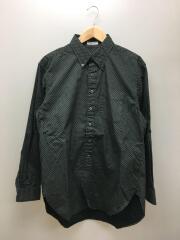 19AW/19th BD shirt/長袖シャツ/S/コットン/BLK/総柄