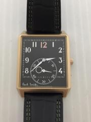 WESTMINSTER/クォーツ腕時計/アナログ/レザー/BLK/1045-S122333
