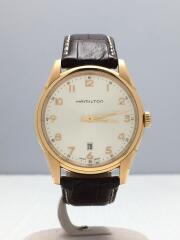 ジャズマスターシンライン/クォーツ腕時計/アナログ/レザー/SLV/H385410