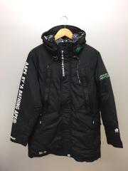 AAPE DOWN JACKET/S/ポリエステル/BLK/AAPDNM7300XXD