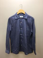 2019年モデル/リネン混/オープンカラーシャツ/L/ポリエステル/BLU/GMG-09070-A