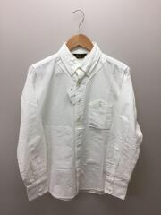 ベーズボールシャツ/M/コットン/ホワイト