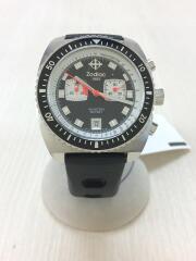 クォーツ腕時計/アナログ/--/BLK/ZO02207/風防キズ有/クロノグラフ/日付