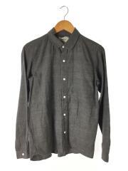 コンフォートシャツ/スナップボタン/長袖シャツ/M/コットン/GRY/無地