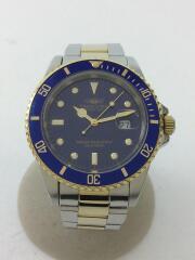 クォーツ腕時計/アナログ/--/NVY/200M防水/ダイバーズウォッチ/CV-8019