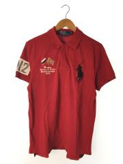 ポロシャツ/L/コットン/RED