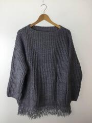セーター(厚手)/FREE/アクリル/GRY