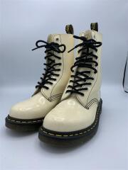 ブーツ/38/WHT/エナメル