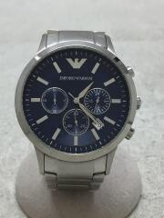 クォーツ腕時計/アナログ/ステンレス/NVY/SLV/AR-2448
