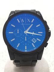 クォーツ腕時計/アナログ/ステンレス/BLK/BLK/AX2513