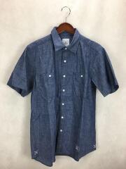 バックプリント半袖シャンブレーシャツ/型番:UE-1800412/コットン/IDG