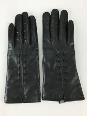 7 1/2/手袋/レザー/BLK