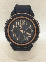 BGA-150PG/BABY-G/クォーツ腕時計/デジアナ/ラバー/NVY