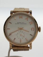 MBM3244/クォーツ腕時計/アナログ/--/WHT/GLD/ピンクゴールド