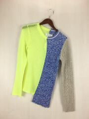 19年モデル/Asymmetry Pullover knit/セーター(薄手)/S/ウール/YLW