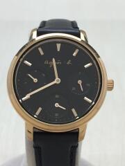 クォーツ腕時計/アナログ/レザー/型番:VD75-KGZ0